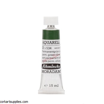 Horadam Aquarell 15ml Permanent green olive