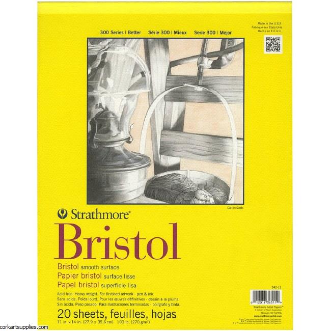 Strathmore Bristol 270g/100lb 20 sheets 11x14