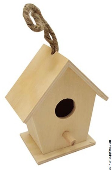 Bird House Wood Mini 8438