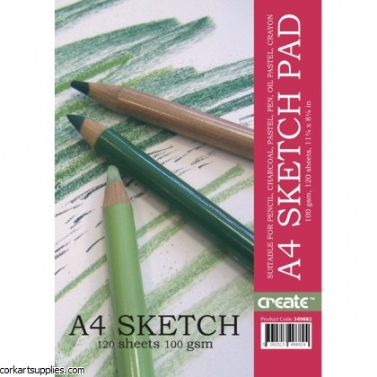 Cartridge A4 Sketch Pad 100sh^