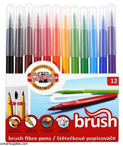 Markers Brush Asst KN 12pk