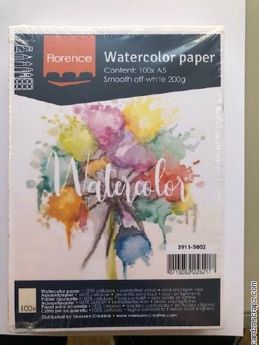 Watercolour Paper Smooth A5 100pk 95lb/200gm