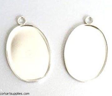 Jewellery Pendant Oval 3pk