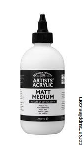 Artists' Acrylic Matt Medium 250ml Winsor & Newton