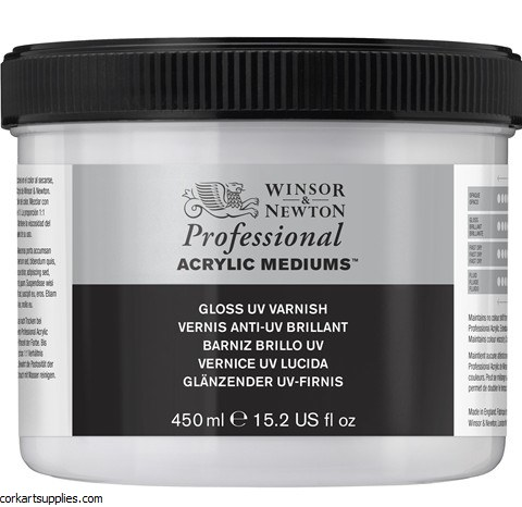 Artists' Acrylic Gloss Varnish 450ml Winsor & Newton