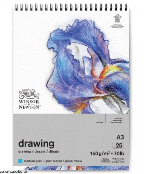 Drawing Pad A3 Spiral Med 150g