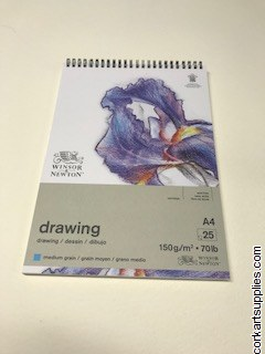 Drawing Pad A4 Spiral Med 150g