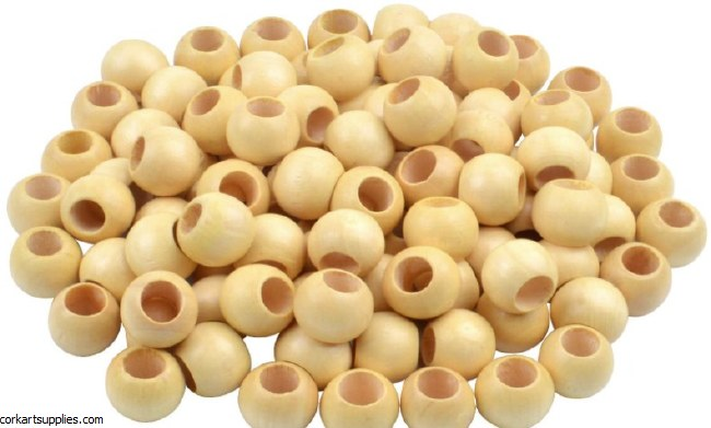 Wooden Beads 200pk 15mm