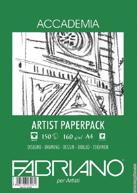 Accademia Drawing Paper A4 160gm 150pk