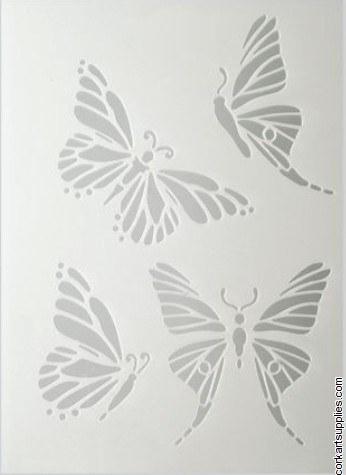 Stencil A5 EFCO Butterfly 4pk^