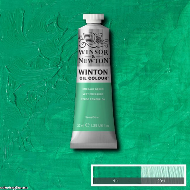 Winton Oil Colour 37ml Emerald Green