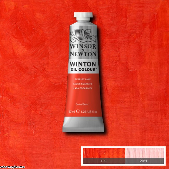 Winton Oil Colour 37ml Scarlet Lake