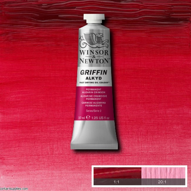 Griffin Alkyd 37ml Permanent Alizarin Crimson