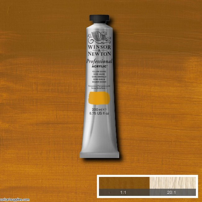 Yellow Ochre 200ml Artists' Acrylic Winsor & Newton