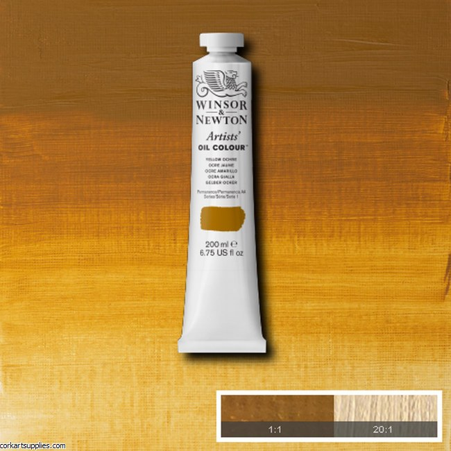 W&N Artists Oil 200ml Yellow Ochre