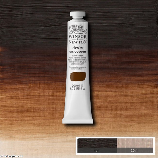 W&N Artists Oil 200ml Burnt Umber