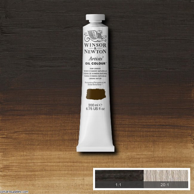 W&N Artists Oil 200ml Raw Umber