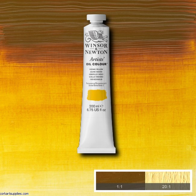 W&N Artists Oil  200ml Indian Yellow