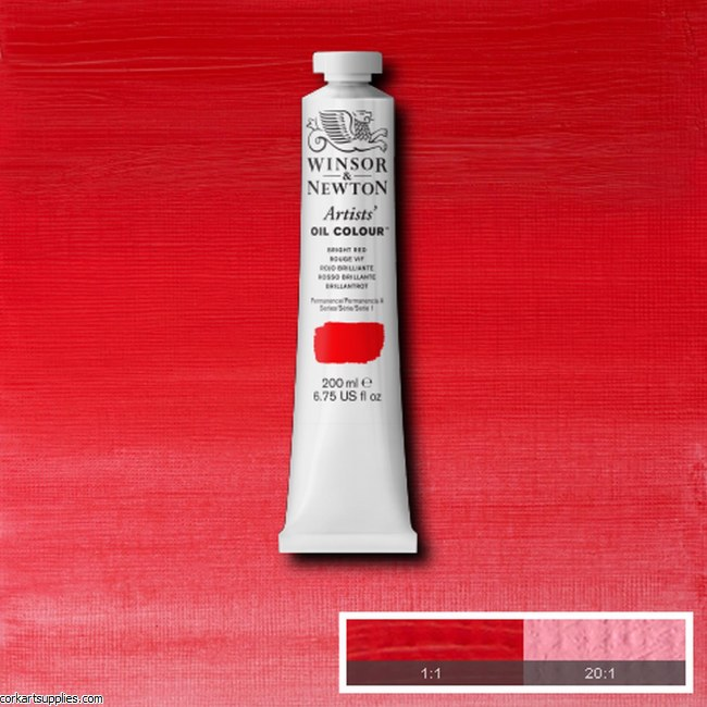W&N Artists Oil 200ml Bright Red