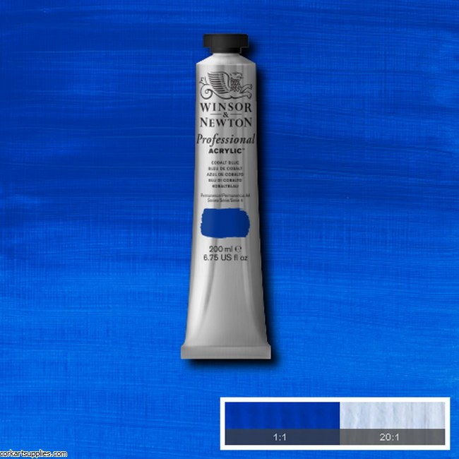 Cobalt Blue 200ml Artists' Acrylic Winsor & Newton
