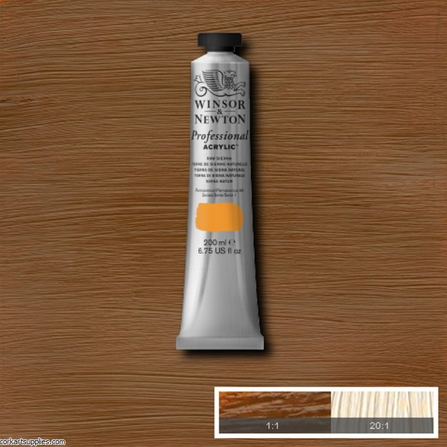 Raw Sienna 200ml Artists' Acrylic Winsor & Newton