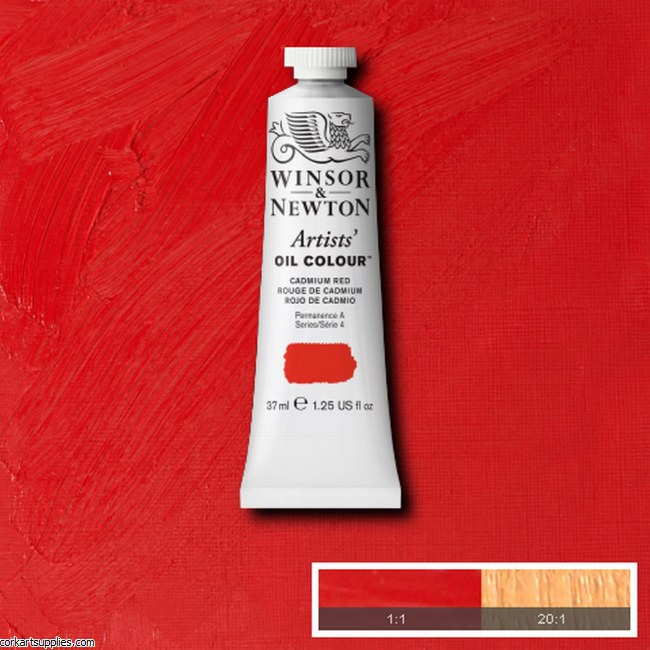 W&N Artists Oil 200ml Cadmium Red