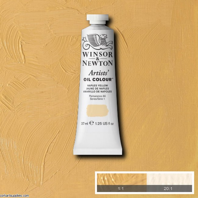 W&N Artists Oil 37ml Naples Yellow
