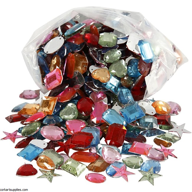 Sew On Stones Plastic 800pk