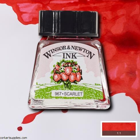 Winsor & Newton Ink 14ml Scarlet
