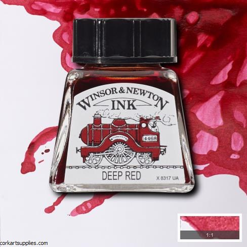 Winsor & Newton Ink 14ml Deep Red
