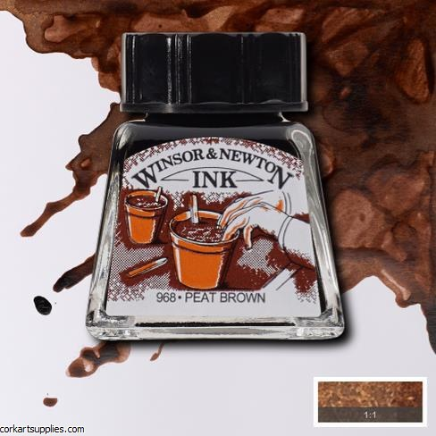 Winsor & Newton Ink 14ml Peat Brown