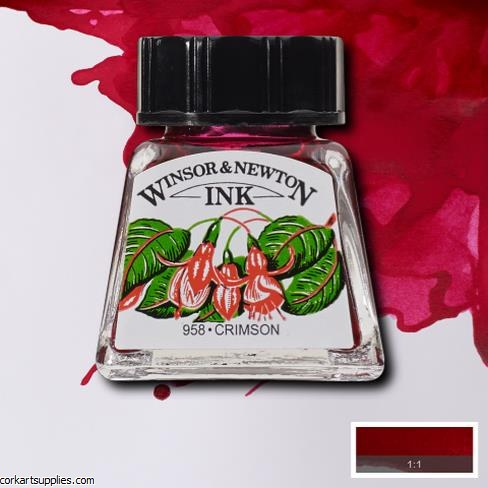 Winsor & Newton Ink 14ml Crimson