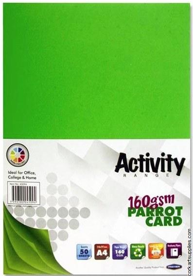 A4 Card 160gm Green 50pk