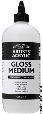Artists' Acrylic Gloss Medium 500ml Winsor & Newton