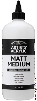 Artists' Acrylic Matt Medium 500ml Winsor & Newton