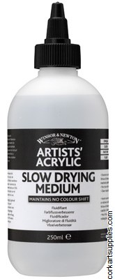 Artists' Acrylic Slow Dry Medium 250ml - Winsor & Newton