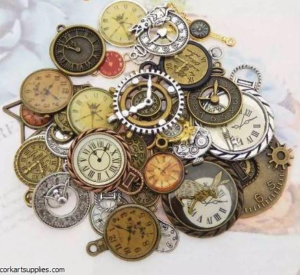 CAS Embellies Asst Clocks 10pk