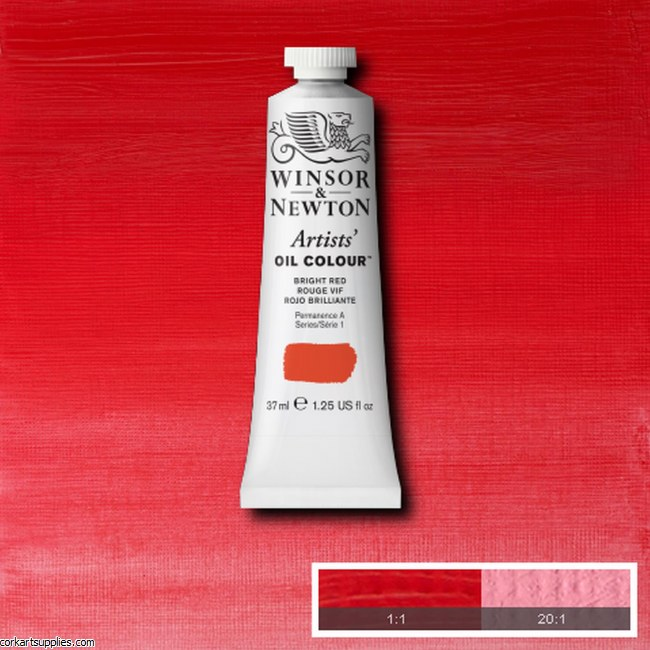 W&N Artists Oil 37ml Bright Red