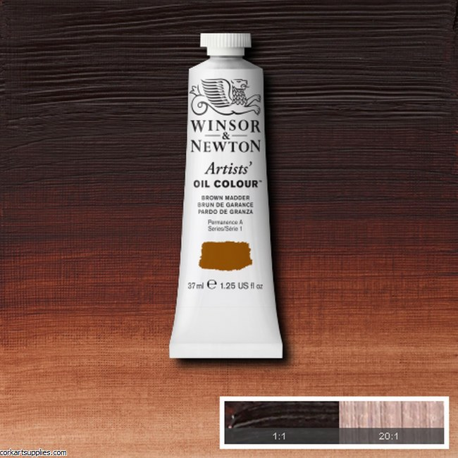 W&N Artists Oil 37ml Brown Madder