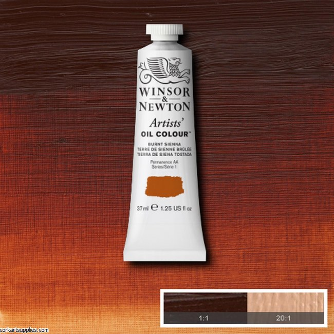 W&N Artists Oil 37ml Burnt Sienna