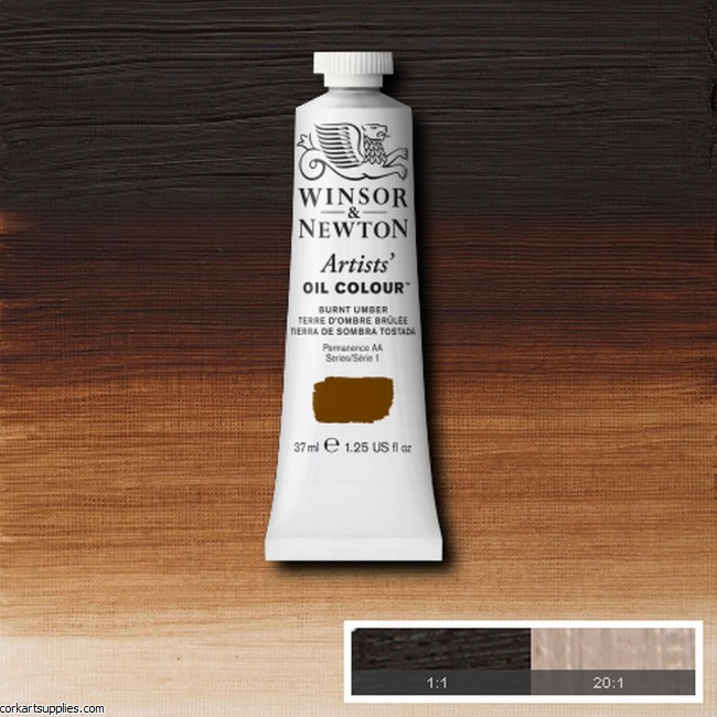 W&N Artists Oil 37ml Burnt Umber