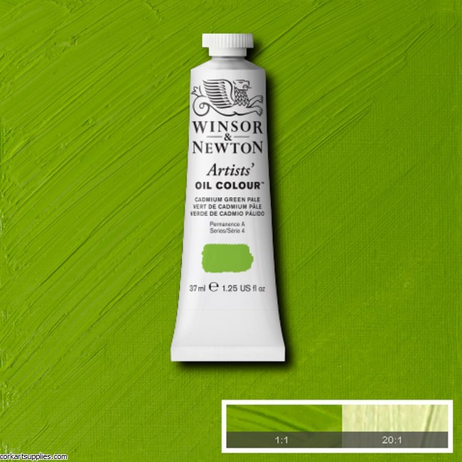 W&N Artists Oil 37ml Cadmium Green Pale