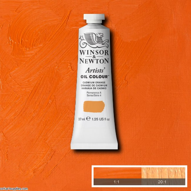 W&N Artists Oil 37ml Cadmium Orange