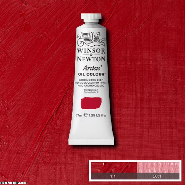 W&N Artists Oil 37ml Cadmium Red Deep