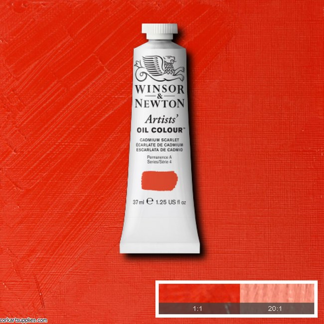 W&N Artists Oil 37ml Cadmium Scarlet