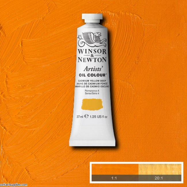 W&N Artists Oil 37ml Cadmium Yellow Deep