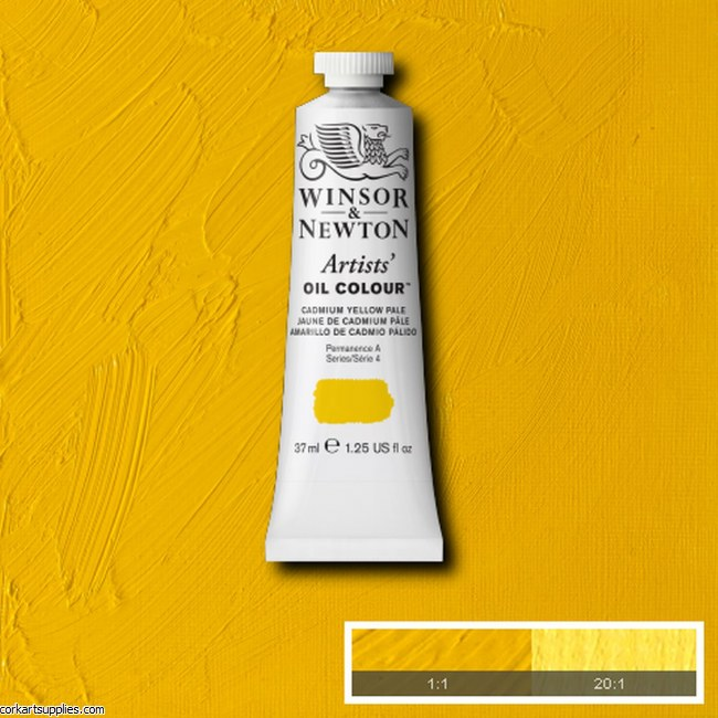 W&N Artists Oil 37ml Cadmium Yellow Pale