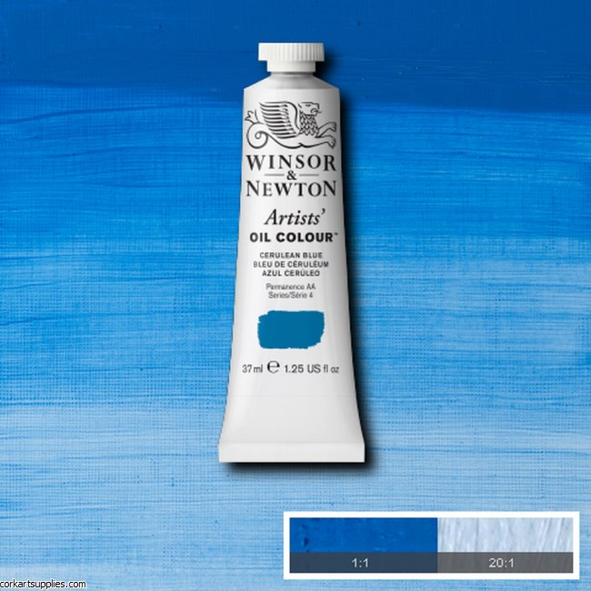 W&N Artists Oil 37ml Cerulean Blue