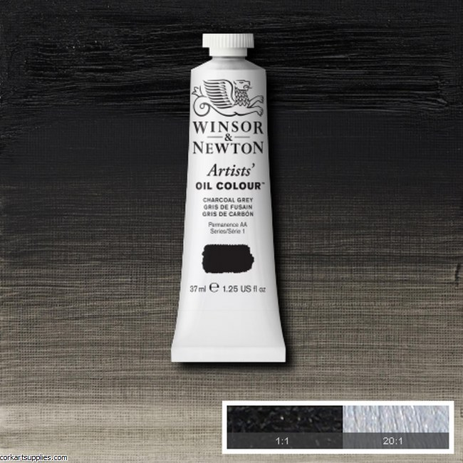 W&N Artists Oil 37ml Charcoal Grey