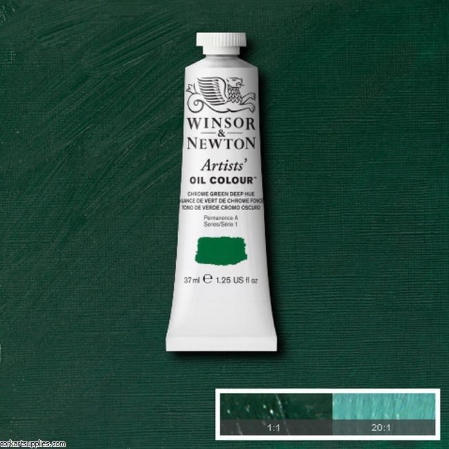 W&N Artists Oil 37ml Chrome Green Deep (Hue)